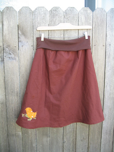 Brown Birdie Skirt
