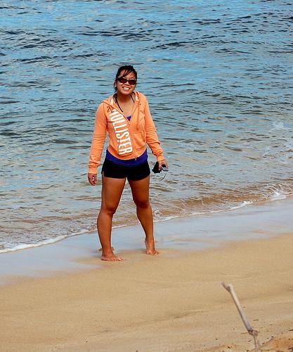 Joy at Waimea Beach