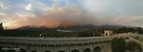 Station Fire JPL Panorama