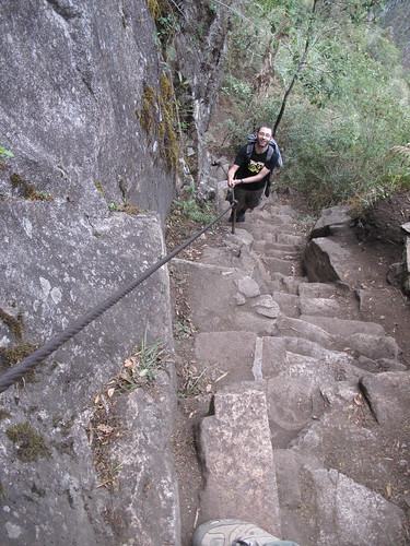 The steep climb to Huayna Picchu