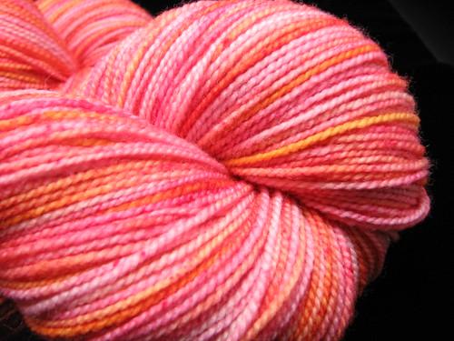 Fiery - Hand Dyed Tiger Twist Sock Yarn