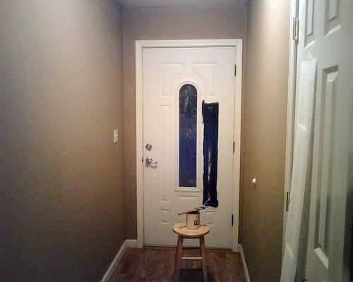 Before door