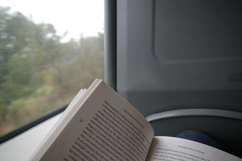 reading onna train