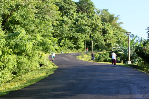 Going up to Lignon Hill