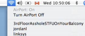 Confrontation via Wireless Network name
