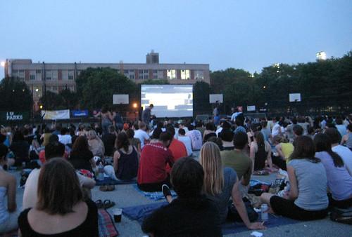 '24 hr Party People' movie screening at McCarren Park, Williamsburg, Brooklyn, NY