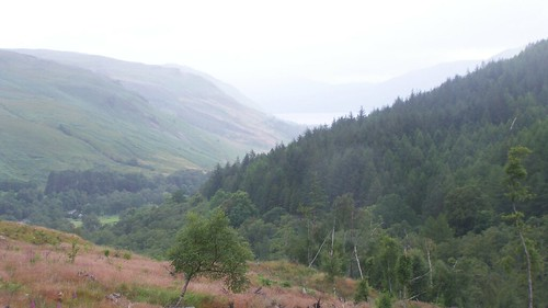 View down to Loch Broom from Corrieshalloch Gorge