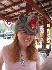 Kate in Wolf Hat