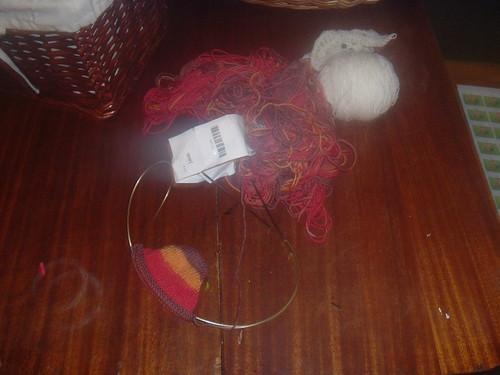Tangle and sock.