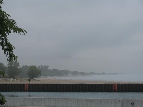 Lake Michigan in Fog