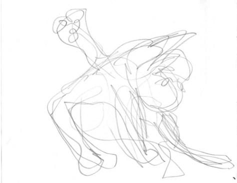 Gesture drawing: Interrobang washing