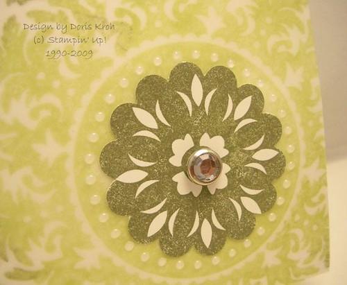Hochzeitskarte Transparentkarton Detail
