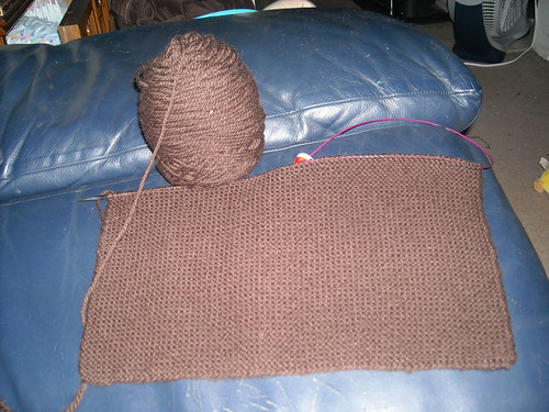 Choc-qua blanket update 1. The one where you realize I havent finished the first block.