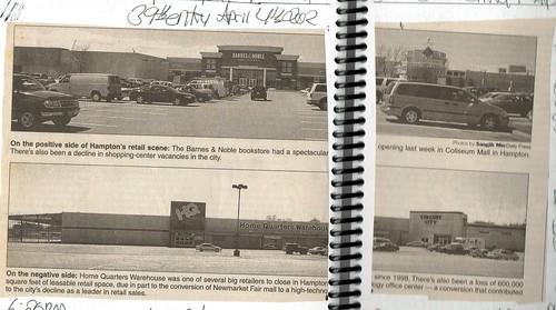 Mercury Plaza vs. Coliseum Mall (April, 2002)