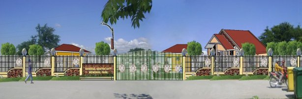 The Gate of the proposed General Santos Memorial Park.