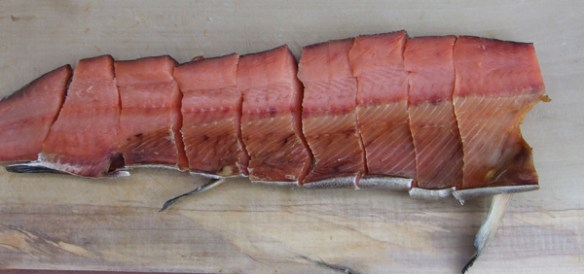 A salted salmon