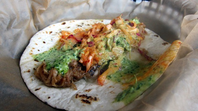 we've got seoul taco at bad dog taqueria