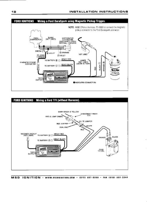 small resolution of 94 mustang msd wiring harness wiring diagram hub msd 6al to msd distributor wiring ford mustang msd 6al wiring