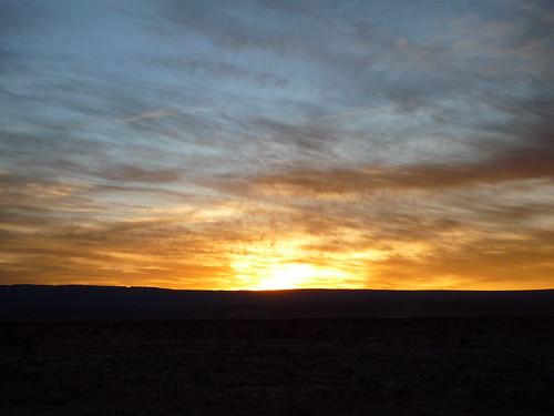atardecer en el Salar de Atacama