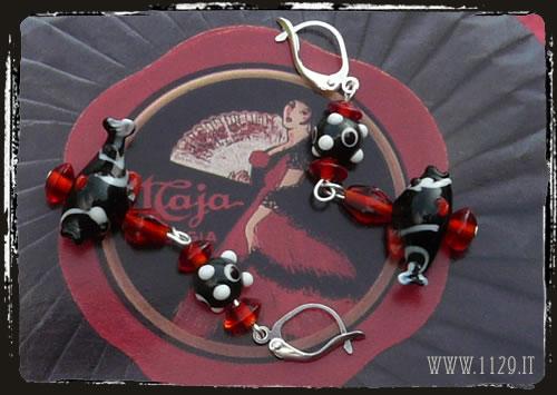 orecchini rosso nero - red blackearrings IFPERN