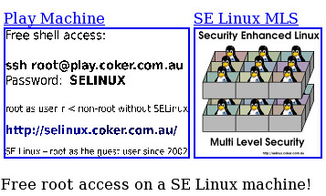SE Linux Play Machines