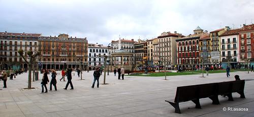 Vista panorámica de la Plaza del Castillo