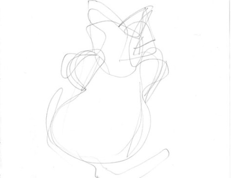 Gesture drawing: Ampersand hunching