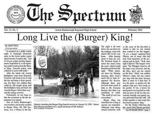 Long Live the (Burger) King!