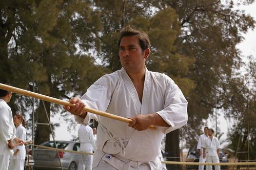 Angel Medinilla practicando aikido