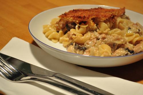 Tuna & Mushroom Pasta Bake-1