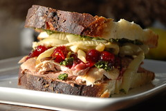 turkey sandwich (with notes) from Thanksgiving...
