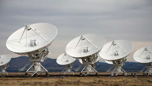 VLA radio telescopes by stephenhanafin.