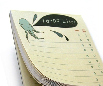Octopus To Do List boygirlparty