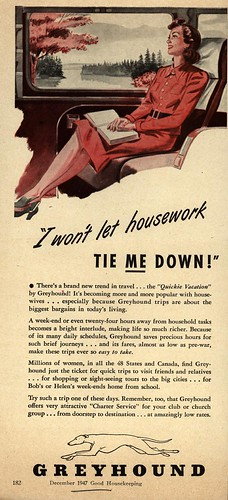 """I won't let housework tie ME down!"" by thelampnyc."