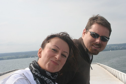 Ayse and Heath on the boat