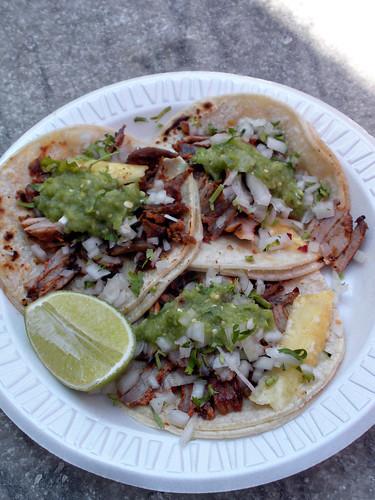 Al pastor tacos from Los Taquitos de Puebla