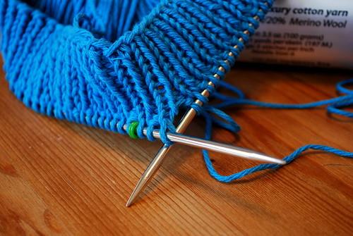 knitting-in-progress, shirt