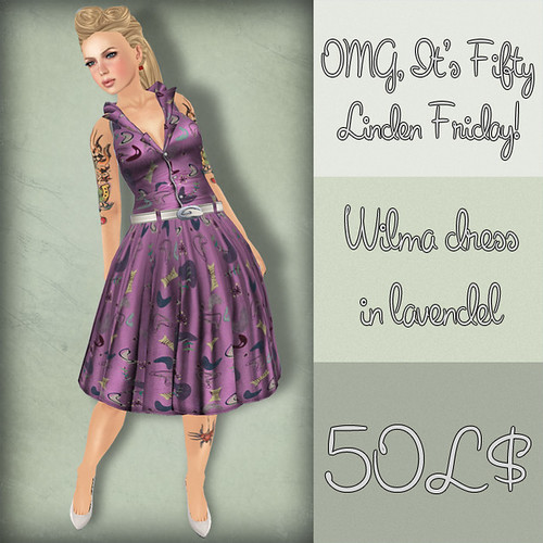 Artilleri 50L Friday Preview Pics – Week 11 - Wilma Dress in Lavendel