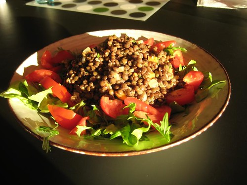 Lentil salad from The Vegan Table