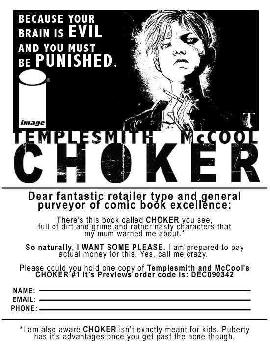 Ben Templesmith's New Comic CHOKER