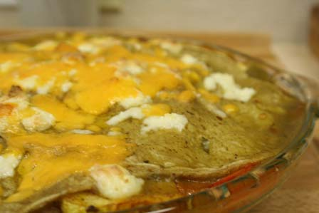 Squash and Pepper Enchiladas