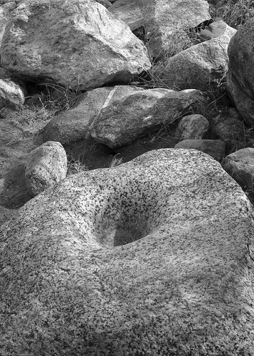 Grinding rock by you.