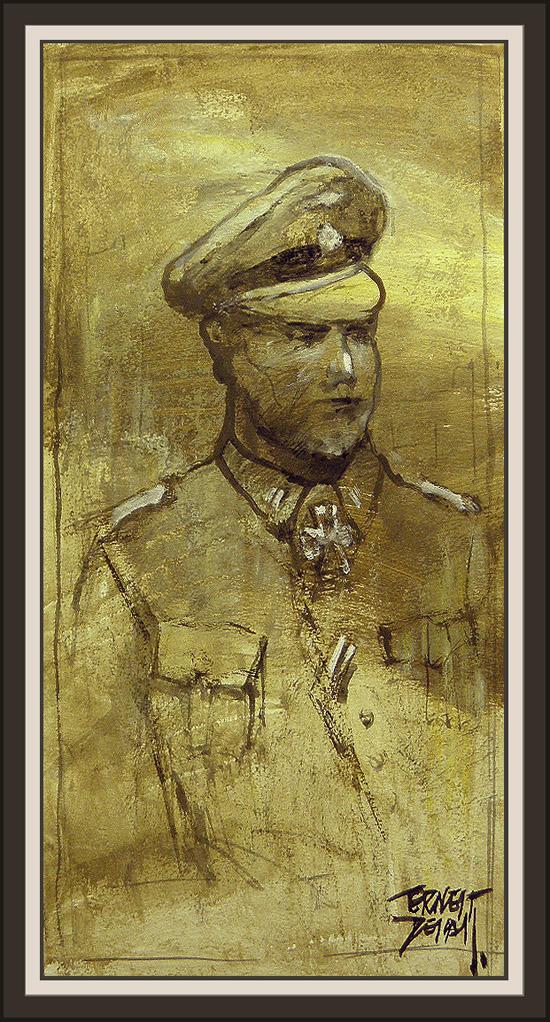 WW2-GERMAN OFFICIAL-OFICIAL EJERCITO ALEMAN-WWII-ERNEST DESCALS-PINTURAS-COLECCION DE CASCOS-