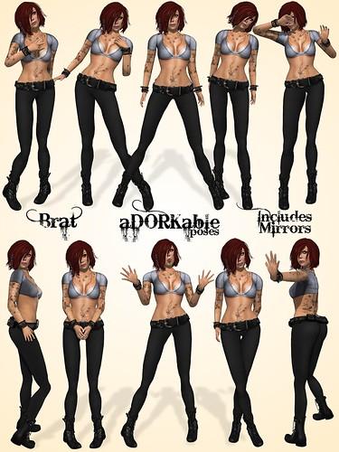 aDORKable Poses: Brat Dork Pack