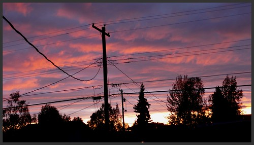 Autumn equinox sunset seen from my back yard.