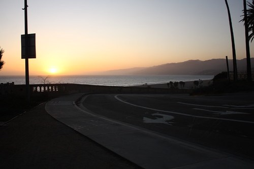 sunset on the pacific coast highway
