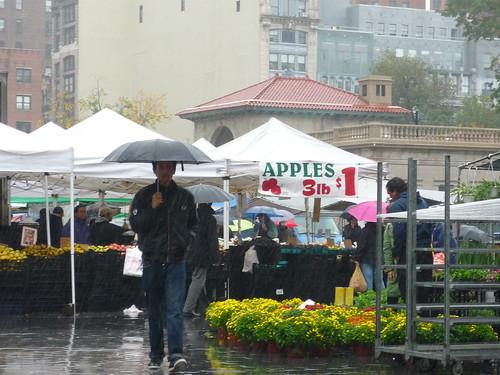 Rain on Union Square