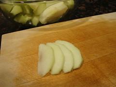 Apple Tart:  Sliced Thin