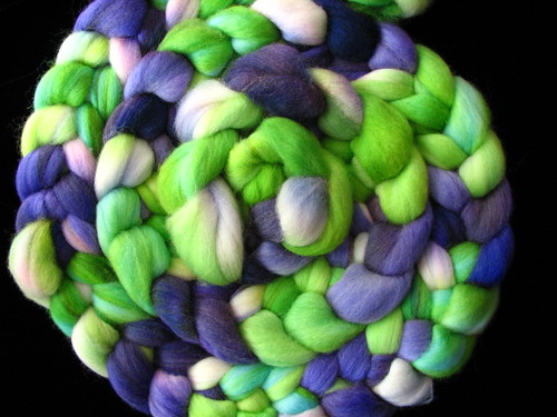 Grape Vine - 8 oz Hand Dyed Corriedale Wool Top Roving