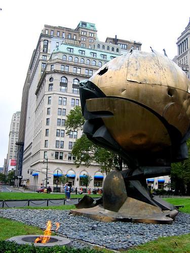 WTC Globe in Battery Park.